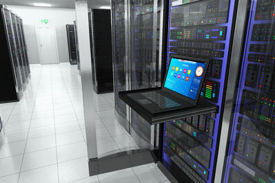 bigstock-Terminal-in-server-room-49812554